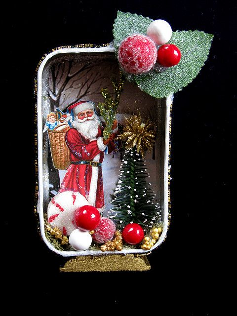 Santa visits Candyland - Altered Altoids tin, by fairydustedmermaids
