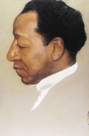 Beauford Delaney, 1901–1979 by Georgia O'Keeffe (1887–1986) Pastel on paper, 1943, National Portrait Gallery, Smithsonian Institution; gift of the Georgia O'Keeffe Foundation