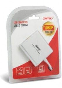 UNITEK Y-2701 USB2.0 to HDMI 1080P Adaptor   SN Technology Cape Town