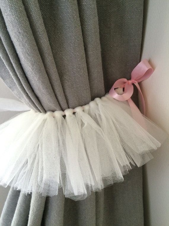 SET OF TWO - Tutu Curtains Tie Back