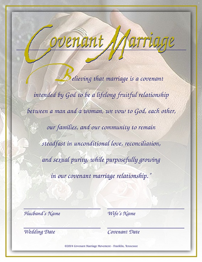 Marriage covenant certificate love this idea wedding for Gay marriage certificate template