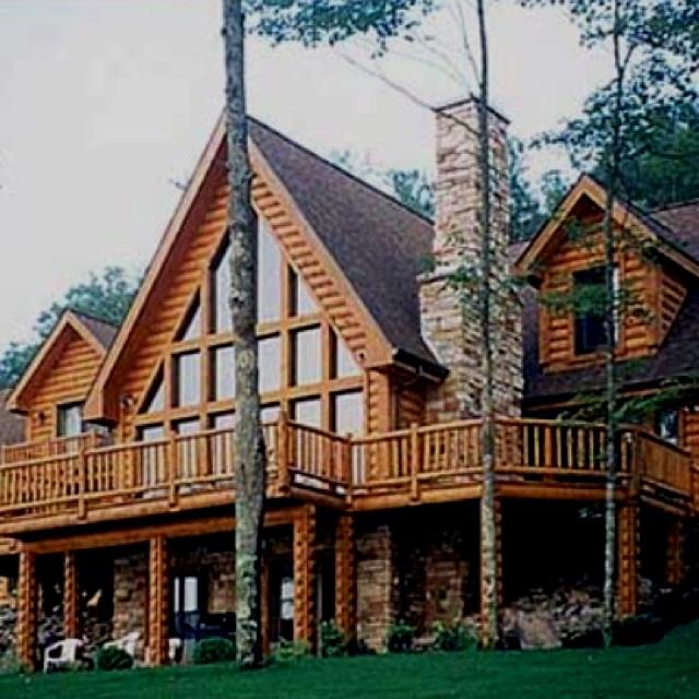 68 best dream log cabins images on pinterest log houses for Log cabin dream homes