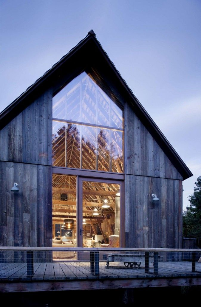 Wood and glass exterior country style