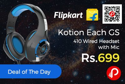 Flipkart is offering 30% off on Kotion Each GS 410 Wired Headset with Mic at Rs.699 Only. Over the Head, Laptop, Audio Player, Gaming Console, Tablet, Mobile, Television.  http://www.paisebachaoindia.com/kotion-each-gs-410-wired-headset-with-mic-at-rs-699-only-flipkart/