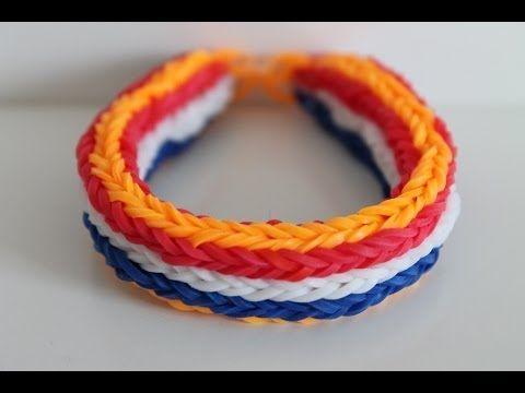 Rainbow Loom Nederlands, WK Nederlandse vlag, armband, Monstertail - YouTube