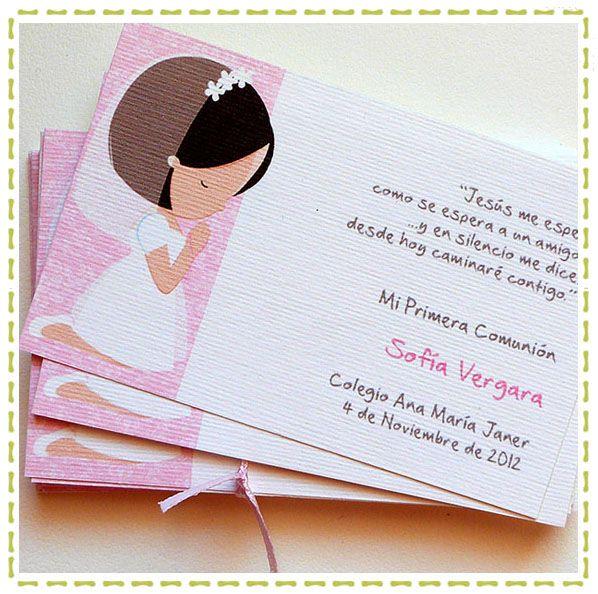 17 mejores ideas sobre invitaciones de primera comunion en - Disenos de tarjetas ...