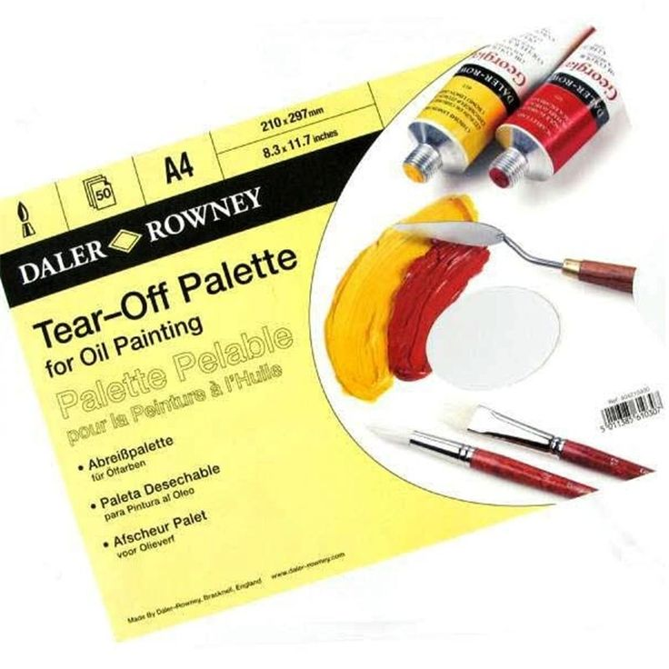 Daler Rowney A4 Tear Off Palette for Oil Painting
