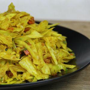 A Classic Vegetarian Curry Cabbage Recipe.|CaribbeanPot.com