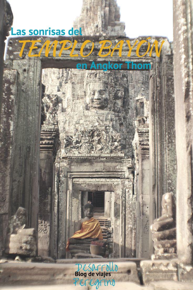 """Lo que hace fácil reconocer Angkor Thom es la sonriente cara del Emperador . Conoce más en nuestro artículo: """"Las sonrisas del templo #Bayón en #AngkorThom"""" #Camboya #Cambodia Jayavarman VII. Pero la sonrisa, es una media sonrisa, serena, tranquila, acompañada con los ojos cerrados del emperador. …"""