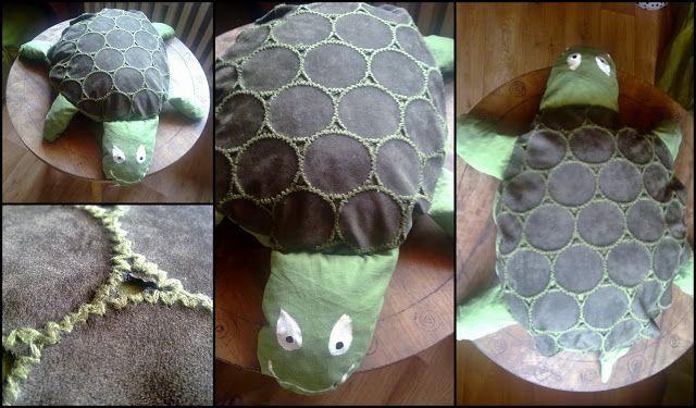 big turtle cushion made for a friend