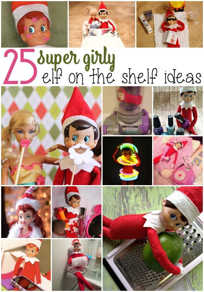 Elf on The Shelf is a fun way to countdown to Christmas. I have a daughter who doesn't have army men or legos, so I needed Elf on The Shelf Ideas for Girls.