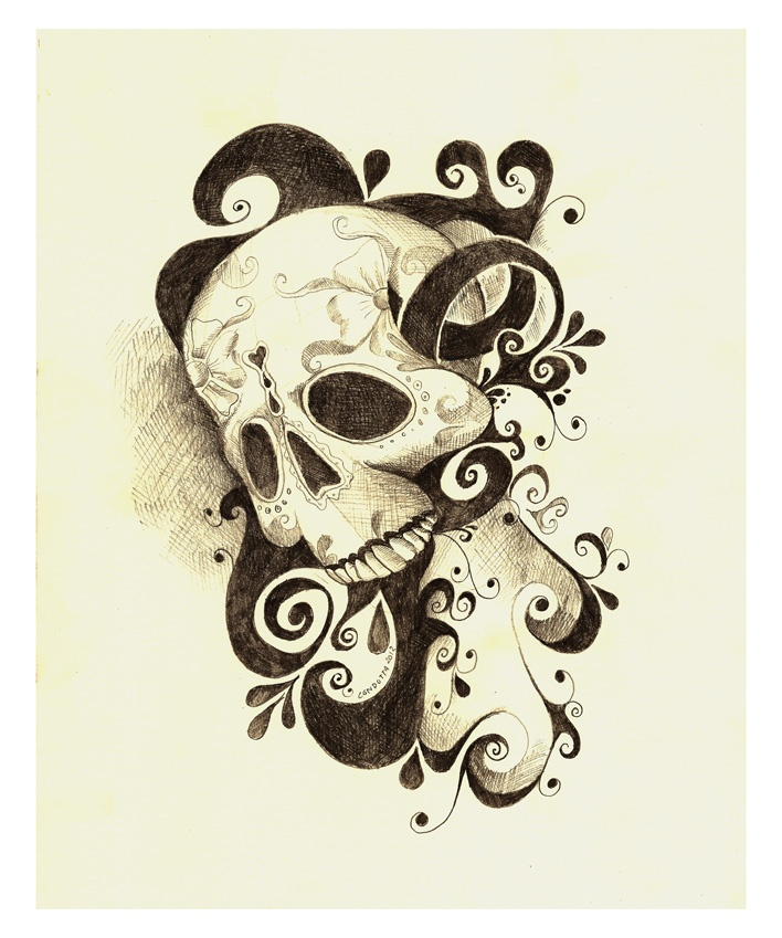 skull..but maybe with some flowers??