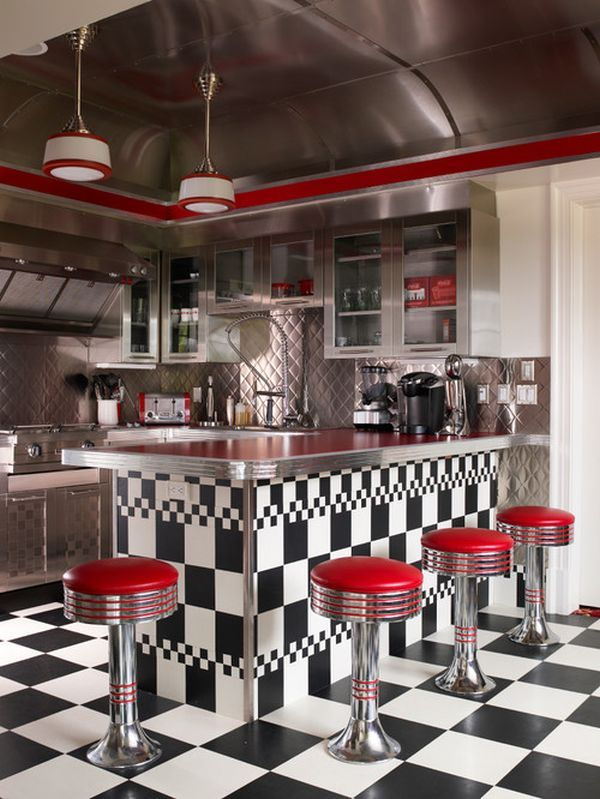How To Create A Funky, Retro Kitchen..............I need this kitchen!!!!!