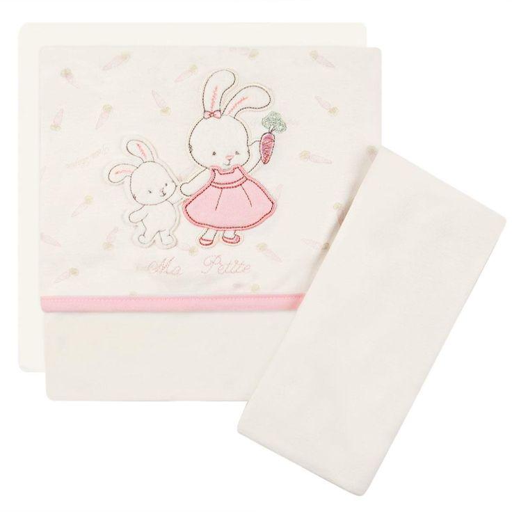 Jogo de lençol em malha para carrinho Ma Petite Rabbit - Classic for Baby Classic for Baby