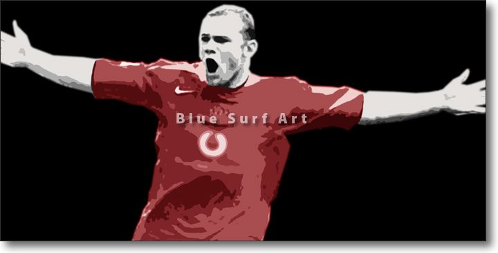 Rooney in Oil Painting on Canvas Price: from £59.99 Size: Various Sizes Available Medium: Oil Painting on Canvas Type: Original - Paint to Order Custom Colours: Available Delivery Time: 7-10 days Item #: POP-SPORT-0011