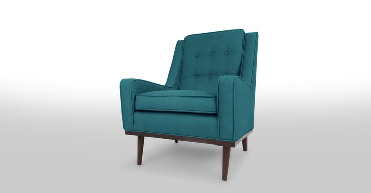 Nina Ocean Teal Armchair - Lounge Chairs - Article | Modern, Mid-Century and Scandinavian Furniture