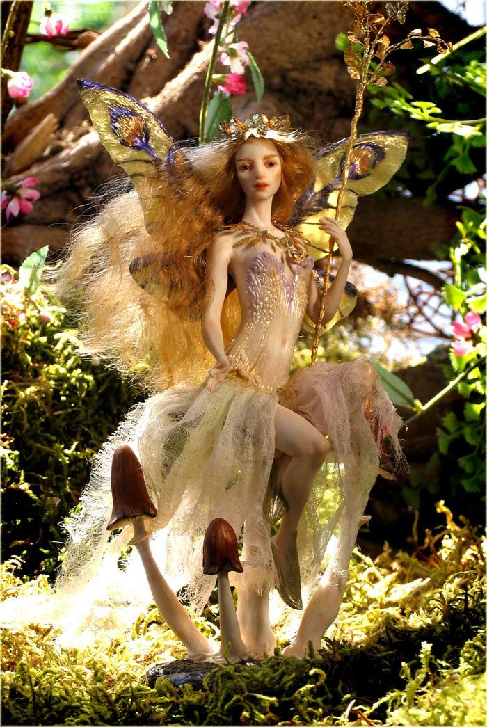 Victorian Garden Faery by Forest  Rogers (polyclay)