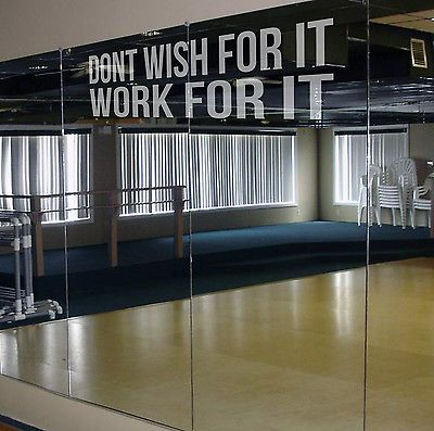 DON'T WISH FOR IT Etch Effect Decal for Mirrors or Glass Home Gym Motivation TRX