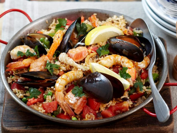 Packed with delicious seafood, this quick one-pan paella has a lot of flavour without all the hard work.