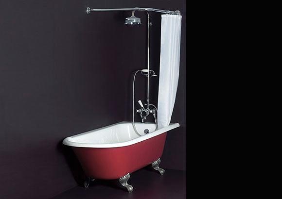 Trident Corner Shower Bath Tub - Albion's Iso Enamel Material