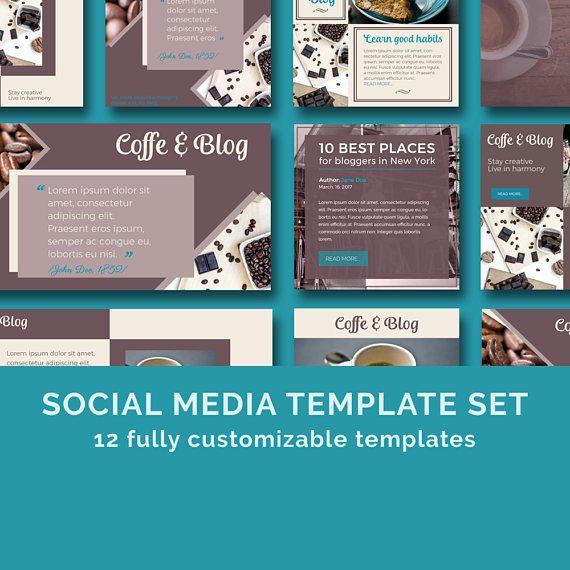 Coffee&Blog  Social Media Templates / Instagram templates /