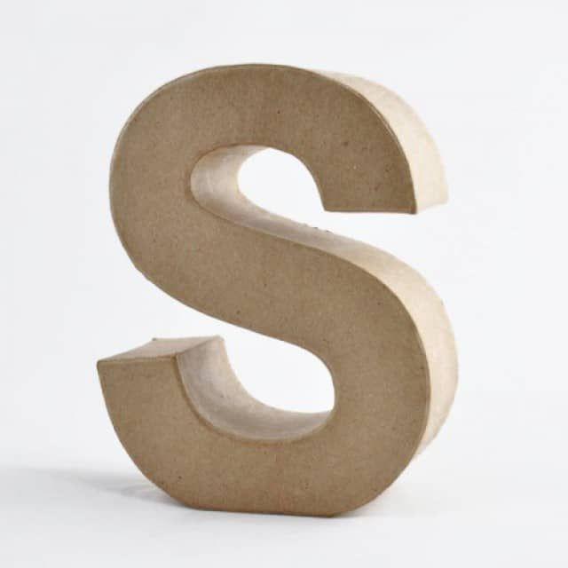 3D Pappbuchstaben stehend 17,5x5,5cm - idee. Creativmarkt