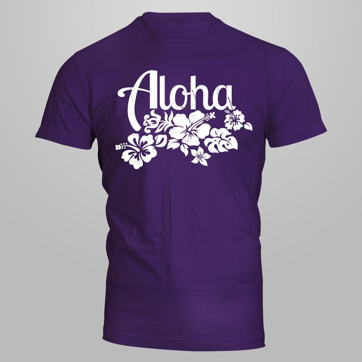 Aloha T-Shirt - Heavy Cotton Classic Fit Adult T-Shirt silkscreen by AceCustomsSilkscreen on Etsy