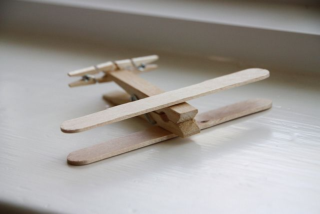 Clothespin airplanes - so easy to make and the kids think they're awesome :)