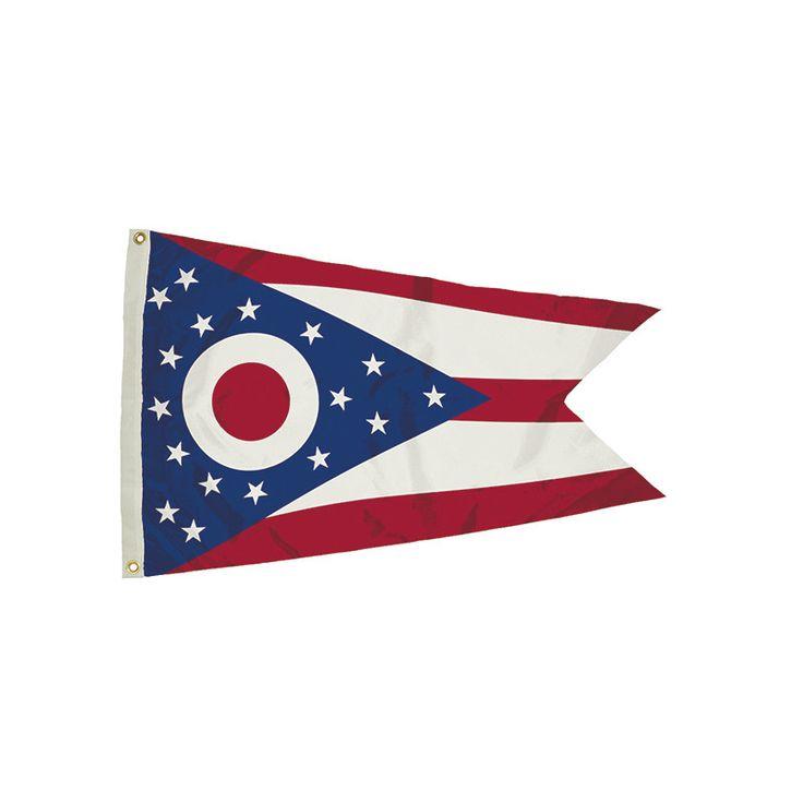 3X5 NYLON OHIO FLAG HEADING &