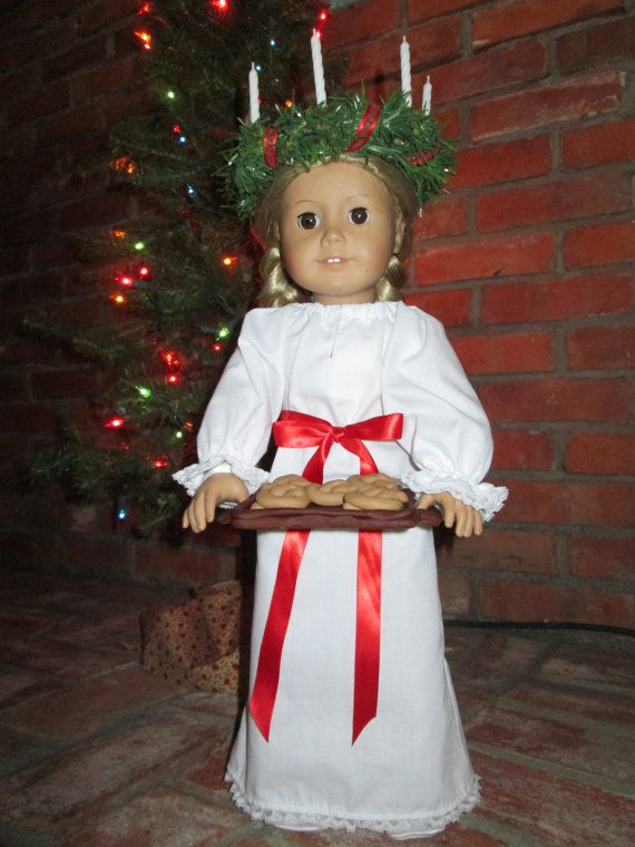 "St. Lucia Catholic Doll Clothes for 18"" American Girl and other dolls - FREE SHIPPING"
