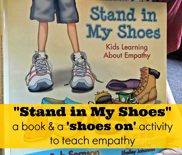 """""""Stand in My Shoes"""" a book about teaching #empathy and #kindness.  And, how we used a quick object lesson activity after reading the book to further develop empathy in our #family Teach kids to serve!"""