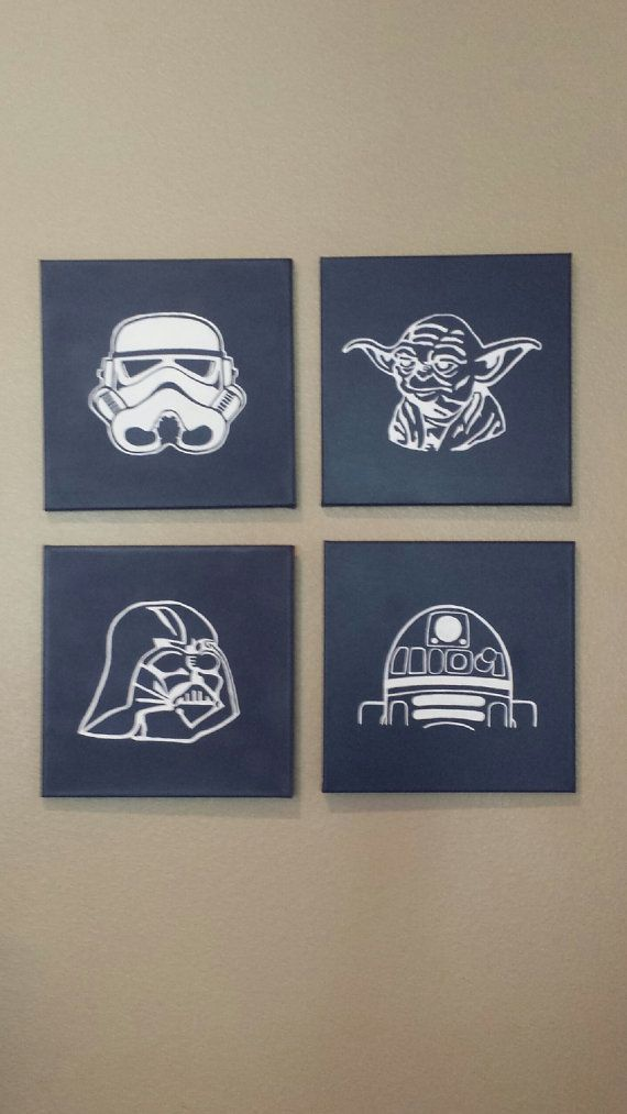 Star Wars Nursery Decor Child Room Wall Art by FunRooms4U on Etsy, $64.00