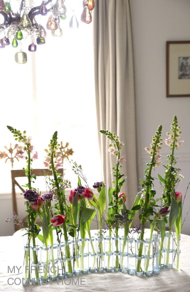 January flowers displayed in this iconic Tse Tse tubular vase ...