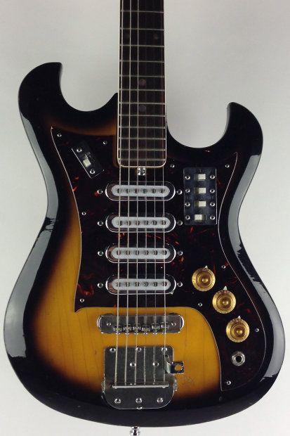 Kent Electric Guitar 1968 Sunburst