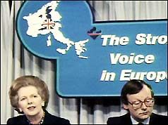 21Mar84: EEC summit collapses over rebate row. Prime Minister Margaret Thatcher has come under attack for the breakdown of negotiations at the European Economic Community common market summit in Brussels. Mrs Thatcher returned to Downing Street in the early hours of this morning after the collapse of talks regarding the rebate to Britain from Europe. It is understood Mrs Thatcher asked for an annual rebate of £730m but was offered £580m, which she refused...