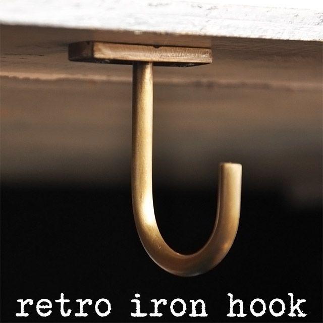 楽天市場 アイアン ハンギングフック ゴールド アンティーク風 吊り金具 園芸 収納 くらしたのしもう屋 吊り金具 金具 収納
