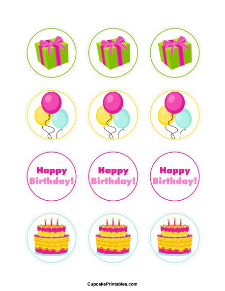 82 best Cupcake Toppers at CupcakePrintablescom images on