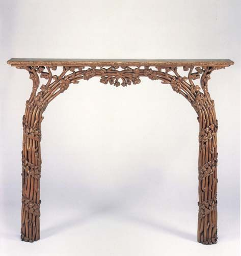 Cincinnati Art Carved Mantel By Henry L. Fry And William H. Fry,