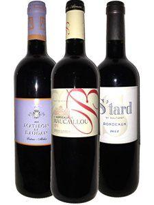 Les Grands Vins Rouges de Bordeaux – S-tard By Soutard 2012 – Bordeaux de Maucaillou 2013 – Matibon de Baudan 2011 – 3*75 cl