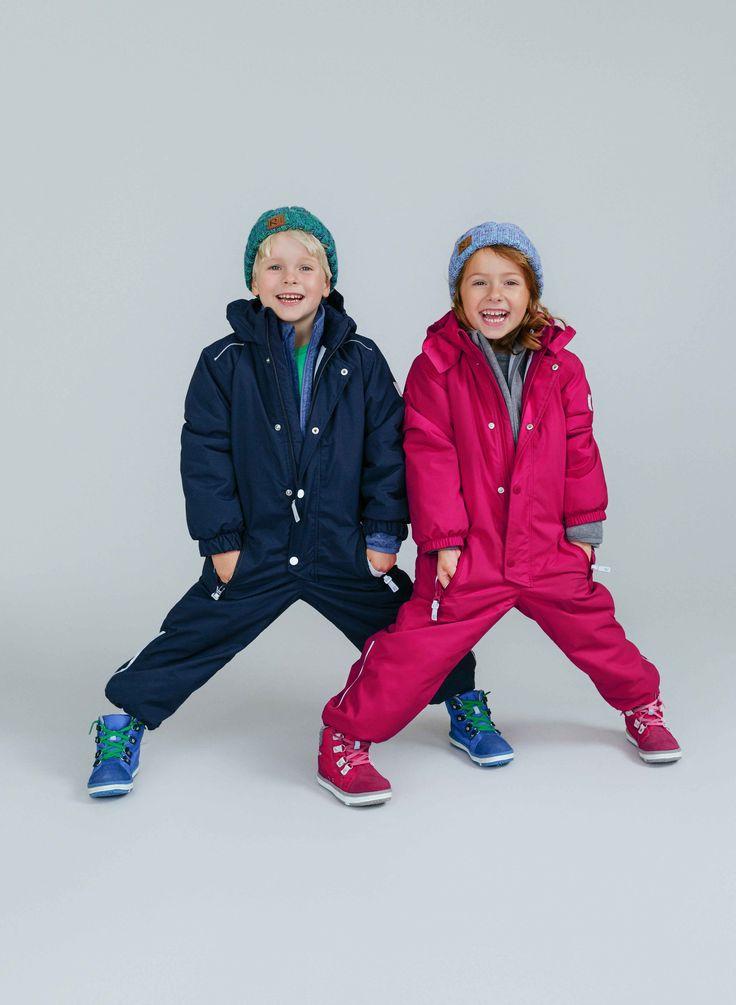 Overall COPENHAGEN, fleece PARVIN, mittens TEPAS, beanie TARINA, shoes WETTER