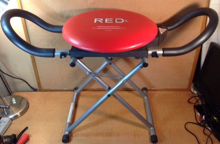 Red Fitness XL Core Rotation & Adjustable Resistance AB Chair Machine #RedXLFitness