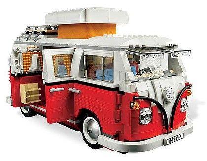 Combining two of my fave retro things: a Lego Kombi Van! :): Vans, Campers, Volkswagen T1, Campervan, Vw Camper