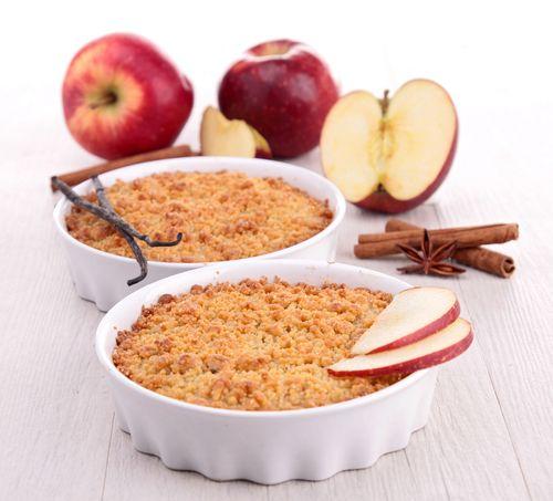 Tarte aux pommes façon crumble pour seulement 0.88€ par personne