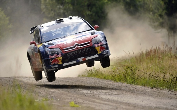 Jumping dust rally racing citroen c4 wrc rally cars gravel racing cars