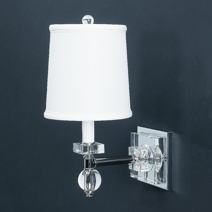 Lamp works 740h crystal estrella wall sconce clear lighting universe bath almaden project for Crystal bathroom vanity sconces