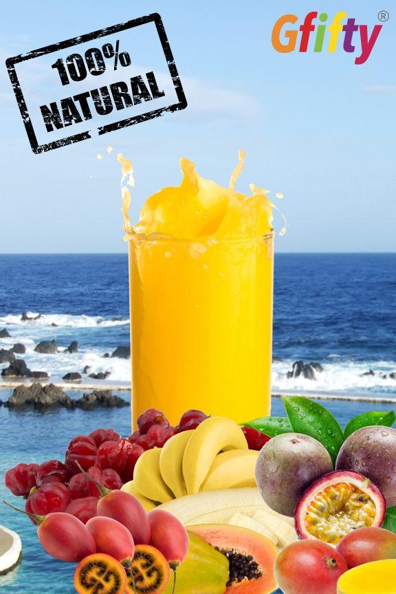 O Gfifty é 100% natural e 100% Madeira. Fantástico.