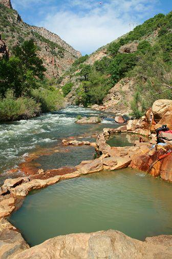 Ogden, Utah ~ an hour north of Salt Lake City. Hot spring tucked in Ogden Canyon  #Utah #USA #travel