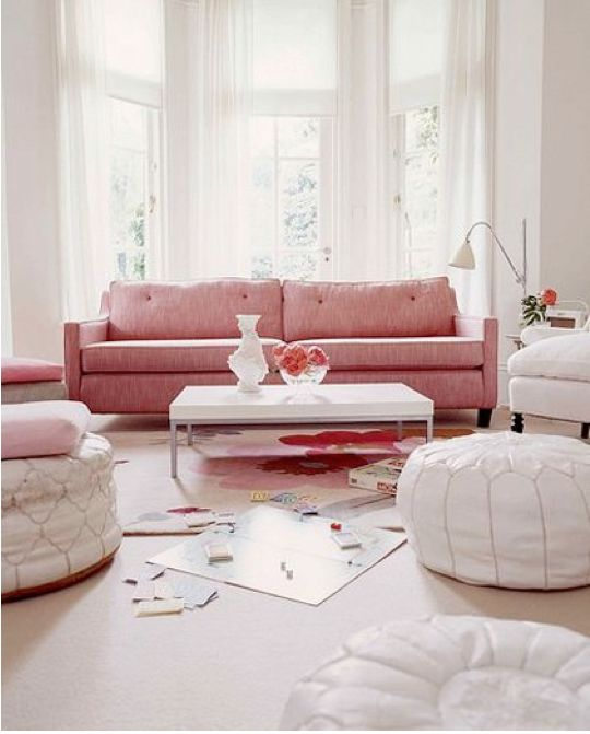 well...i am a girl, and i like pink. but I was looking at pouffes :0)