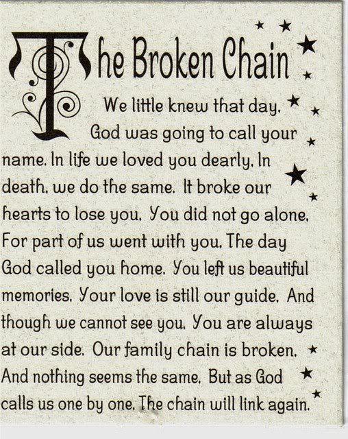 86 Broken Chain Poem Broken Chain Poem Reflections On The River