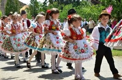 Mini Magyars, who can't love kids in national dress?